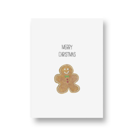 kaart van Opa Muis - gingerbread cookie
