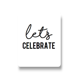 5 stickers - let's celebrate