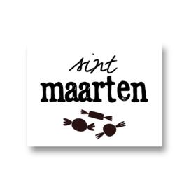 5 stickers - sint maarten snoepjes