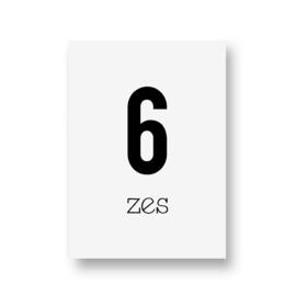 zwartwitjes - zes