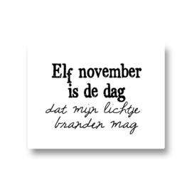 5 stickers - elf november is de dag dat mijn lichtje