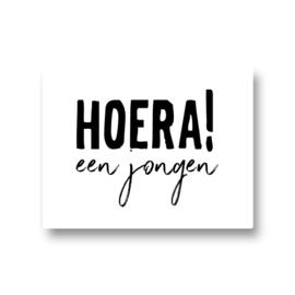 5 stickers - hoera! een jongen