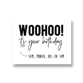 5 naamstickers - woohoo! it's your birthday