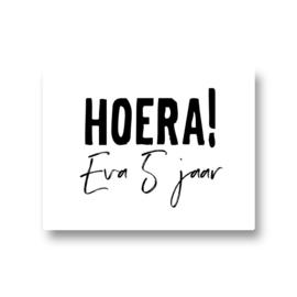 5 naamstickers - hoera (eva)