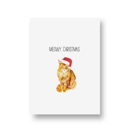 kaart van Opa Muis - meowy christmas