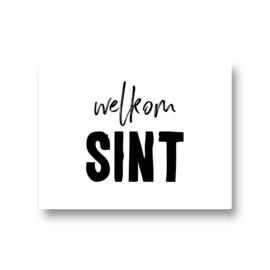 5 stickers - welkom Sint