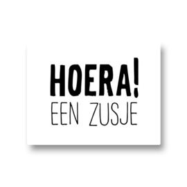 5 stickers - hoera! een zusje