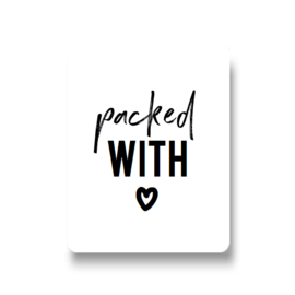 5 stickers - packed with love