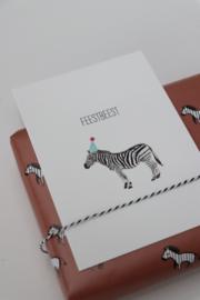 kaart van Opa Muis - zebra