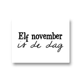 5 stickers - elf november is de dag