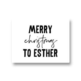 5 naamstickers - merry christmas