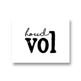 5 stickers - houd vol