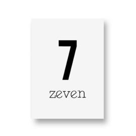 zwartwitjes - zeven