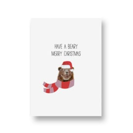 kaart van Opa Muis - beary merry christmas