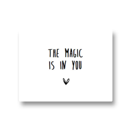 5 stickers - the magic is in you
