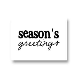 5 stickers - seasons's greetings