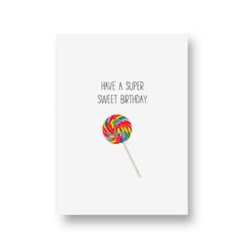 kaart van Opa Muis -  sweet birthday