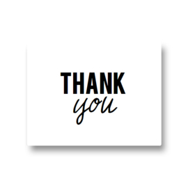 5 stickers - thank you