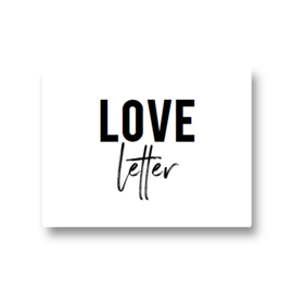 5 stickers - love letter