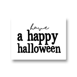 5 stickers - have a happy halloween