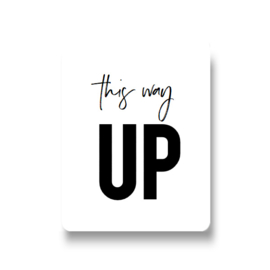 5 stickers - this way up