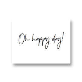 5 stickers - oh happy day!
