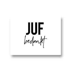 5 stickers - juf bedankt