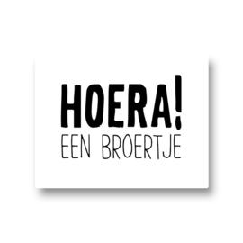 5 stickers - hoera! een broertje