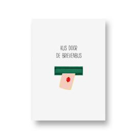 kaart van Opa Muis - kus door de brievenbus