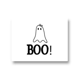5 stickers - boo meisjes spook