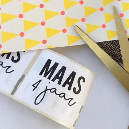 5 naamstickers - (maas)