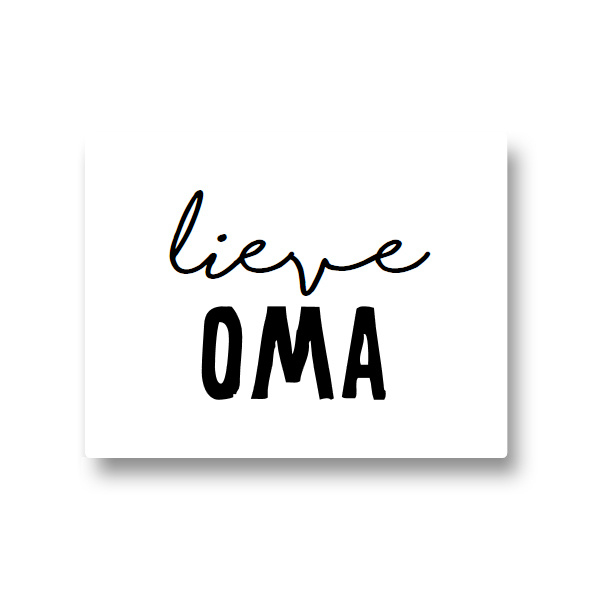 5 stickers - lieve oma