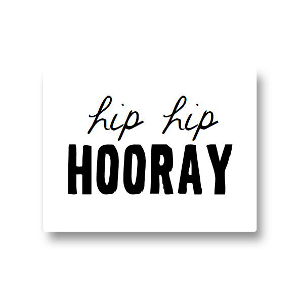 5 stickers - hip hip hooray