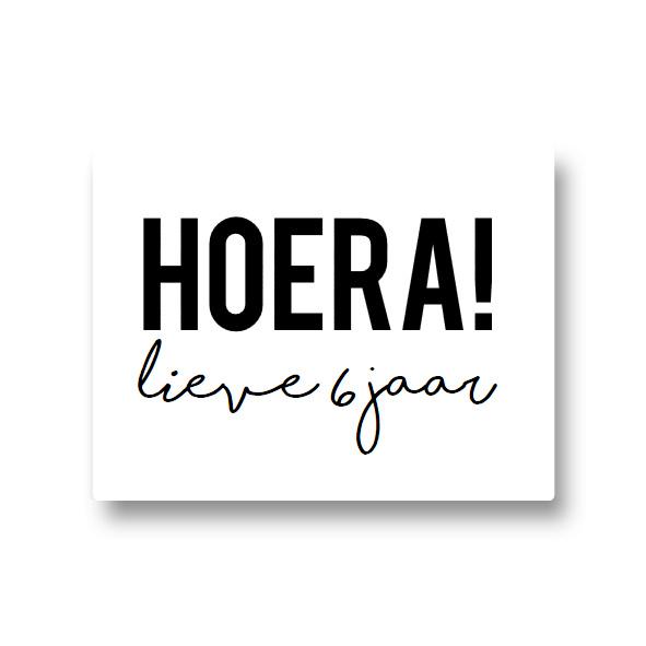 5 naamstickers - hoera (lieve)