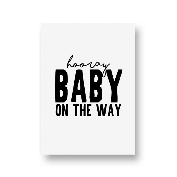 zwartwitjes - baby on the way