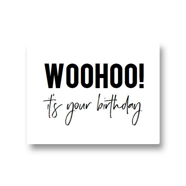 5 stickers - woohoo! it's your birthday