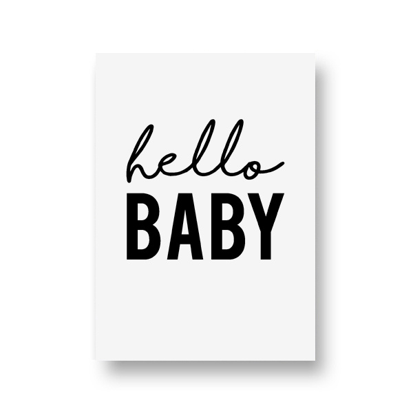zwartwitjes - hello baby