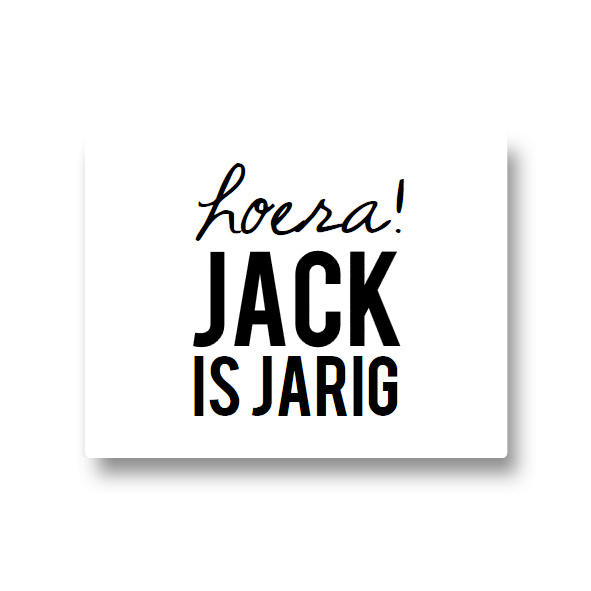 5 naamstickers - hoera (jack)