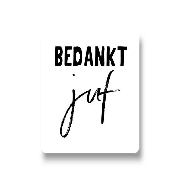 5 stickers - bedankt juf
