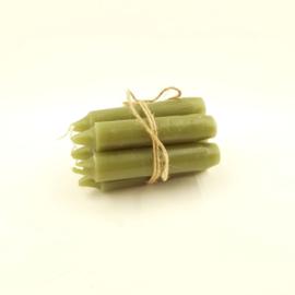 Kaarsjes 11 cm - Olijf Groen