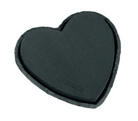 OASIS® Black BIOLIT® Hart 17cm - 2 stuks