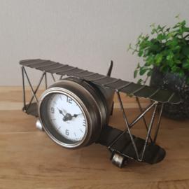 Tafelklok Metalen Vliegtuig