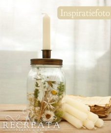 Candle Jar Leeg - H 17 cm