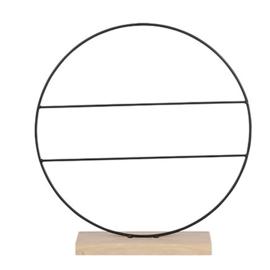 Ring met Stangen op Houten Voet - 40 cm