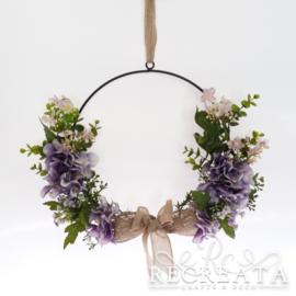 Ring Hanger met Hortensia en Bloesem - 28 cm