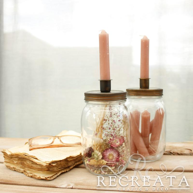 Set Candle Jars - Gevuld - OldPink
