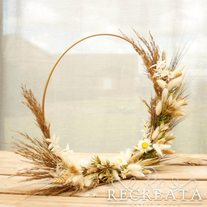 Flowerhoop - Cream & Green - 30cm