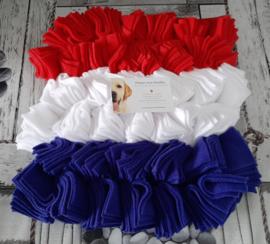 Wolken Snuffelmat Nederlandse vlag 28x28cm