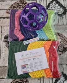 Doe-Het-Zelf-Maak Pakket Regenboog Snuffelbal Jumbo