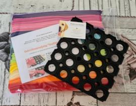 Doe-het-zelf-maak pakket Regenboog Puppy Snuffelmat 20x20cm